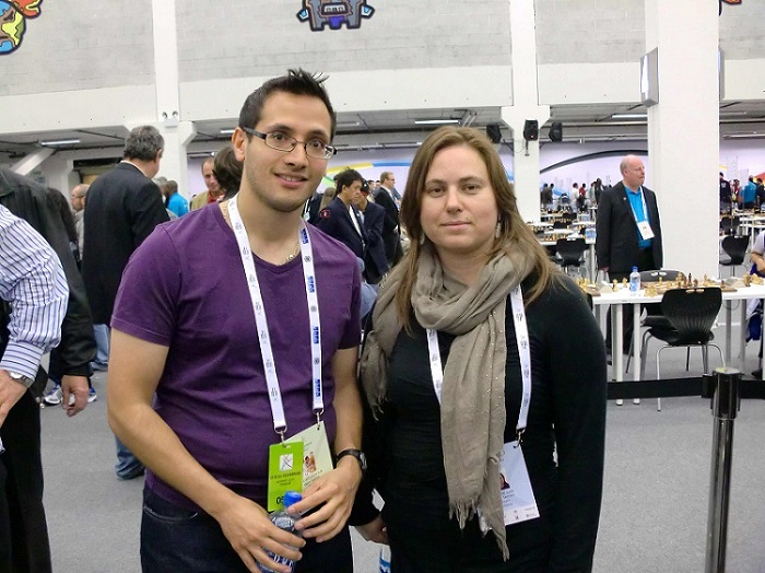 Lorin with Judit Polgar